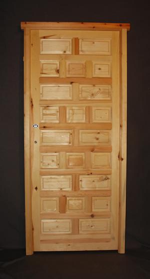 Puerta de madera material de derribo for Puertas antiguas de derribo